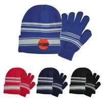 526353009-816 - Cuff Beanie And Gloves Set - thumbnail