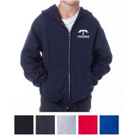 535399016-816 - Independent Trading Company Youth Midweight Zip Hooded Sweatshirt - thumbnail