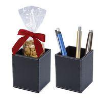 536292496-816 - Faux Leather Pen Cup Set - thumbnail