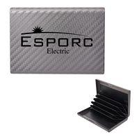 556085021-816 - RFID Carbon Fiber Pattern Aluminum Card Case - thumbnail