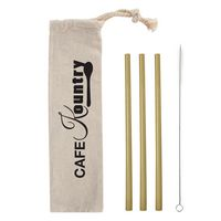 566057673-816 - 3 Pack Bamboo Straw Kit In Cotton Pouch - thumbnail