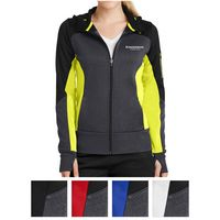 575408090-816 - Sport-Tek® Ladies' Tech Fleece Colorblock Full-Zip Hooded Jacket - thumbnail