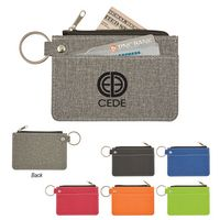 585885854-816 - Heathered Card Wallet With Key Ring - thumbnail