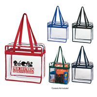 594970767-816 - Clear Tote Bag With Zipper - thumbnail