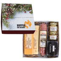 705808063-816 - Deluxe Charcuterie Gourmet Meat & Cheese Set Chairman Gift Box - thumbnail