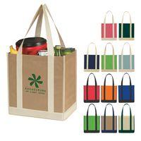 713123256-816 - Non-Woven Two-Tone Shopper Tote Bag - thumbnail