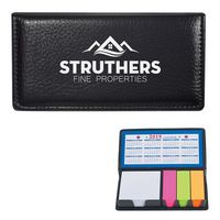 722287271-816 - Leather Look Case Of Sticky Notes With Calendar - thumbnail