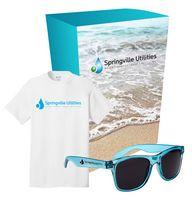725056701-816 - Port & Company® T-Shirt And Sunglasses Combo Set With Custom Box - thumbnail