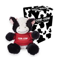 """765013517-816 - 6"""" Cuddly Cow With Custom Box - thumbnail"""