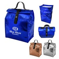 776088539-816 - Metallic Non-Woven Roll Lunch Bag - thumbnail