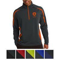 785443118-816 - Sport-Tek® Sport-Wick® Stretch 1/2-Zip Colorblock Pullover - thumbnail