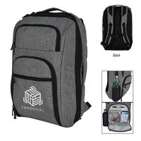 786114838-816 - Heathered RFID Laptop Backpack & Briefcase - thumbnail
