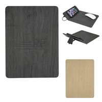 965944319-816 - Woodgrain Wireless Charging Mouse Pad With Phone Stand - thumbnail