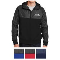 975414639-816 - Sport-Tek® Embossed Hybrid Full-Zip Hooded Jacket - thumbnail