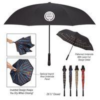 "985770113-816 - 48"" Arc Tartan Inversion Umbrella - thumbnail"