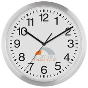 "982224022-169 - 12"" Slim Metal Wall Clock - thumbnail"