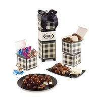 105774616-112 - Mad For Plaid Chocolates Galore Keepsake Box Black-White - thumbnail