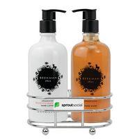 326451714-112 - Beekman 1802 Honeyed Grapefruit Soap & Lotion Gift Set - Chrome Plated Metal - Beekman - thumbnail