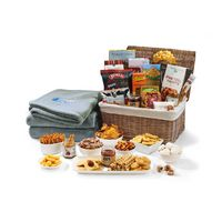356473905-112 - Gourmet Delights Basket with Serenity Throw - Natural-Grey - thumbnail