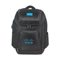 515689443-112 - Travis & Wells® Velocity Charging Computer Backpack - Black - thumbnail