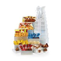 556335898-112 - Capture Their Attention Snacks for All Tower - Silver Diamond Pattern - thumbnail