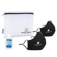 576276537-112 - Reusable Face Masks (2 pack) and Hand Sanitizer Kit - Black - thumbnail