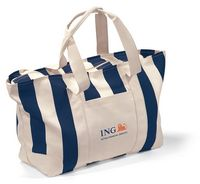 59765188-112 - Large Striped Canvas Tote Blue-Natural - thumbnail
