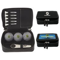 325471213-138 - Titleist® Zippered Golf Gift Kit w/DT TruSoft™ Golf Balls - thumbnail