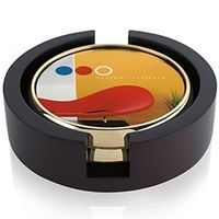 335472773-138 - Jaffa® Two Round Radiant Coasters w/Wood Tray - thumbnail