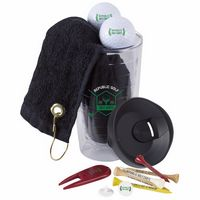 355473109-138 - Titleist® Tumbler 'n Towel Golf Kit w/3 DT TruSoft™ Golf Balls - thumbnail