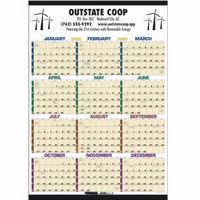 725470927-138 - Triumph® Time Management Laminated Span-A-Year Calendar w/Marker - thumbnail