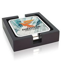 935472777-138 - Jaffa® Two Square Radiant Coasters w/Wood Tray - thumbnail