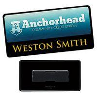 "965472782-138 - 3""x1 1/2"" BIC Graphic® Metal Label/Engraved Combo Name Tag - thumbnail"