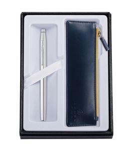315514407-126 - Century Chrome Rollerball Pen w/ Midnight Blue ZIP Pouch - thumbnail