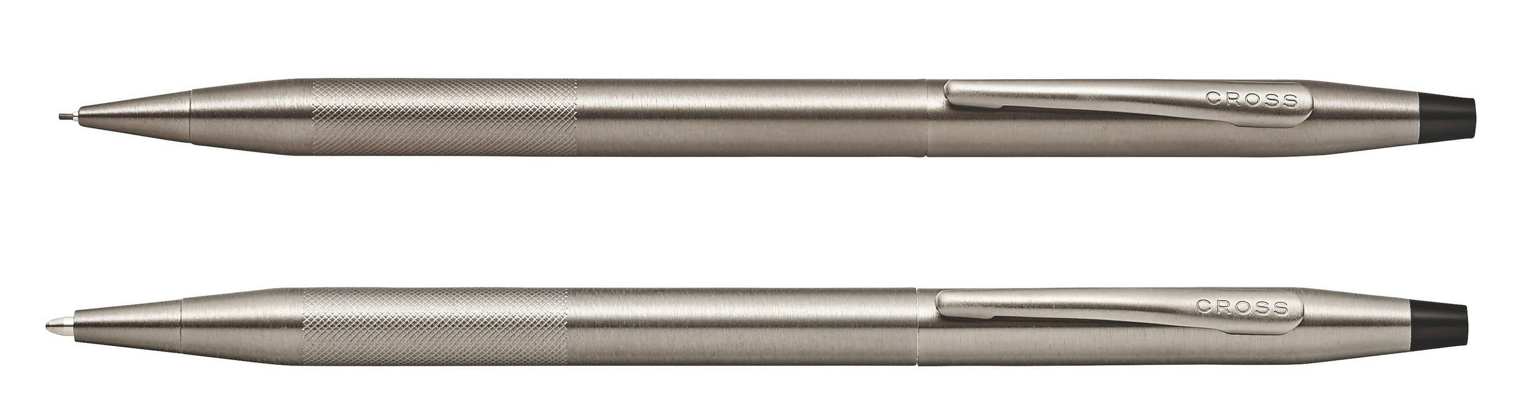 546442847-126 - Classic Century Titanium Gray PVD Ballpoint Pen/0.7mm Pencil Set with Micro-knurl Detail - thumbnail