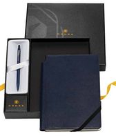 755324709-126 - Click™ Midnight Blue Ballpoint Pen & Midnight Blue Journal Gift Set - thumbnail
