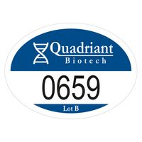 """115932487-183 - Oval White Reflective Numbered Outside Parking Permit Decal (2""""x2 3/4"""") - thumbnail"""