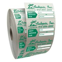 """155543298-183 - Roll of Clear Static Cling Decals for Car Windshield (1 1/2""""x2 1/4"""") - thumbnail"""