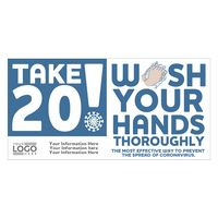 """186252944-183 - Take 20! Wash Your Hands Sticker (4"""" x 8"""") - thumbnail"""