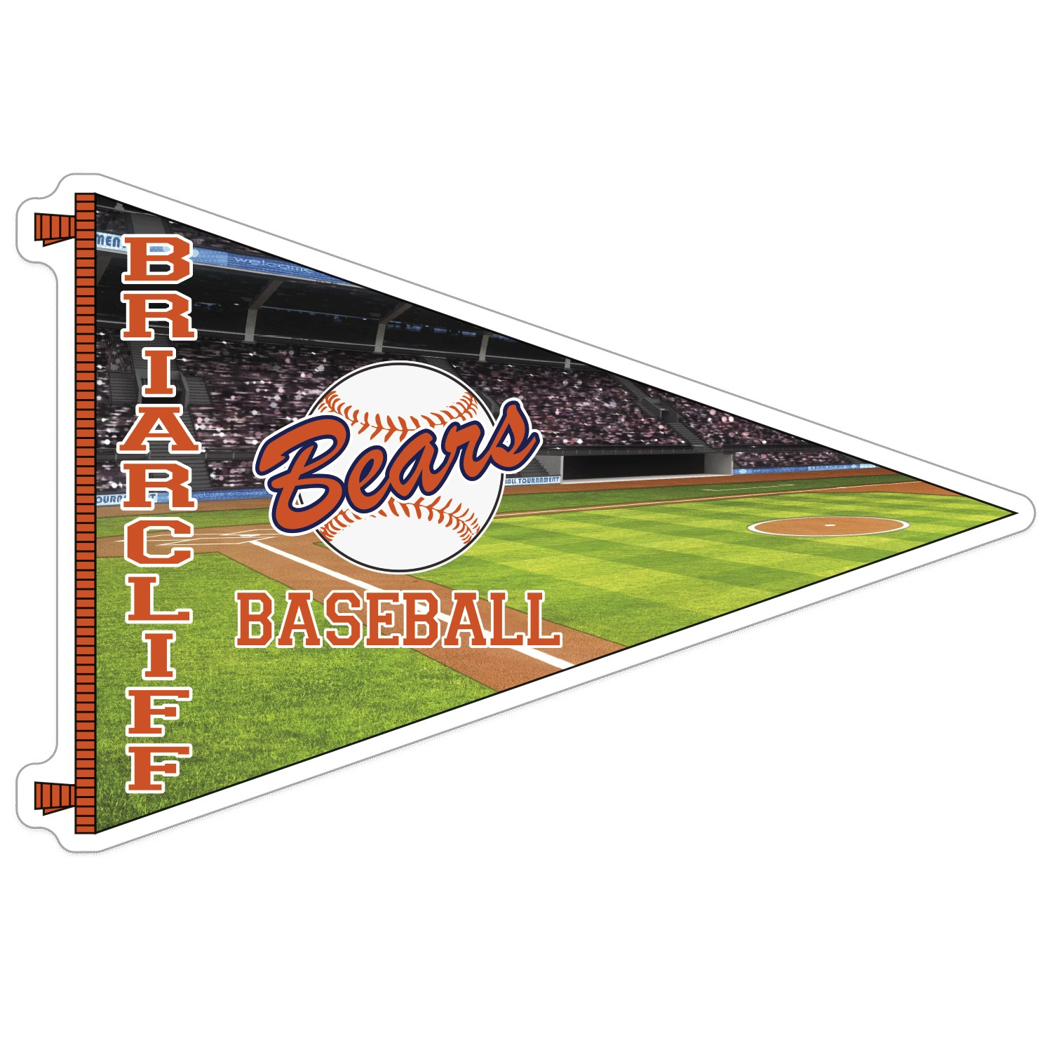 305684123-183 - Pennant Full Color Sports Magnet - thumbnail