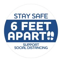 "316254130-183 - Stay Safe Stickers (3"" dia.) - thumbnail"
