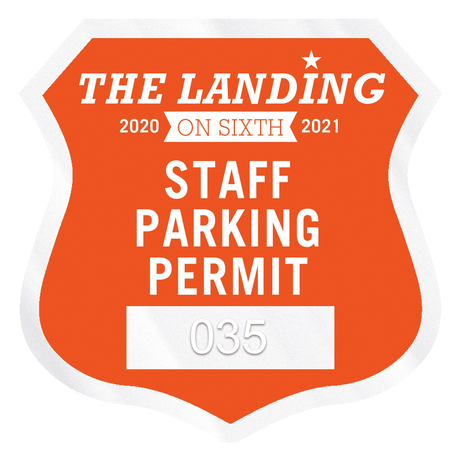 "355932460-183 - Shield Clear Polyester Numbered Inside Parking Permit Decal (2 3/4""x2 3/4"") - thumbnail"