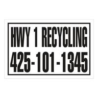 "385529248-183 - Rectangle w/ Square Corners Truck Signs & Equipment Decal (16 1/4""x24 1/2"") - thumbnail"