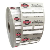 """385543305-183 - Roll of Clear Static Cling Decals for Car Windshield (2""""x2 1/2"""") - thumbnail"""