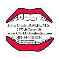 """38559885-183 - Mouth 0.03"""" Thick Vinyl Die Cut Small Stock Magnet - thumbnail"""