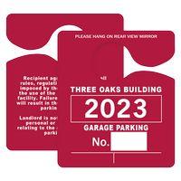 "505048442-183 - Plastic 35 pt. Hanging Parking Permit (3""x3 1/2"") - thumbnail"