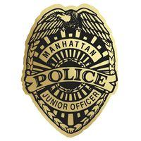 545880621-183 - Police Badge Paper Lapel Sticker On Roll - thumbnail