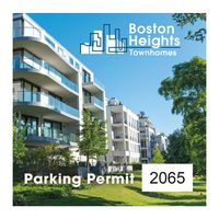 """545932493-183 - Square White Vinyl Full Color Numbered Outside Parking Permit Decal (3""""x3"""") - thumbnail"""