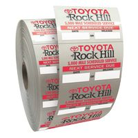 """555543299-183 - Roll of Clear Static Cling Decals for Car Windshield (1 1/2""""x2 1/4"""") - thumbnail"""