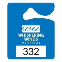 """565932438-183 - Plastic 23 pt. Numbered Hanging Parking Permit (2 1/2""""x3"""") - thumbnail"""